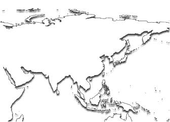 Asia Printable Maps - Printable map of asia