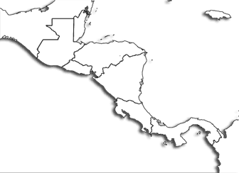 Central America Printable Maps - Blackline us map