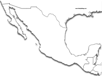Mexico Printable Maps