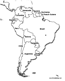South America Printable Maps - South america map labeled